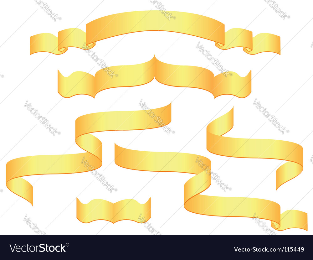 Gold banners vector image