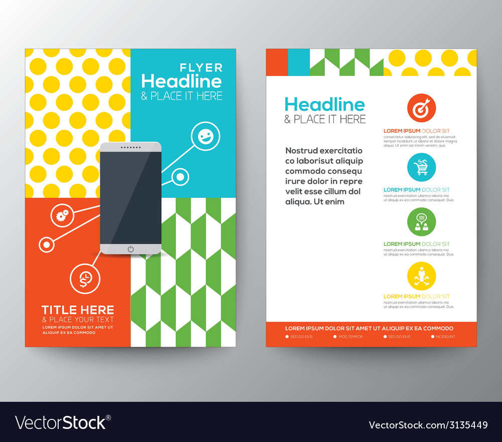 Graphic Design Layout with smart phone concept vector image