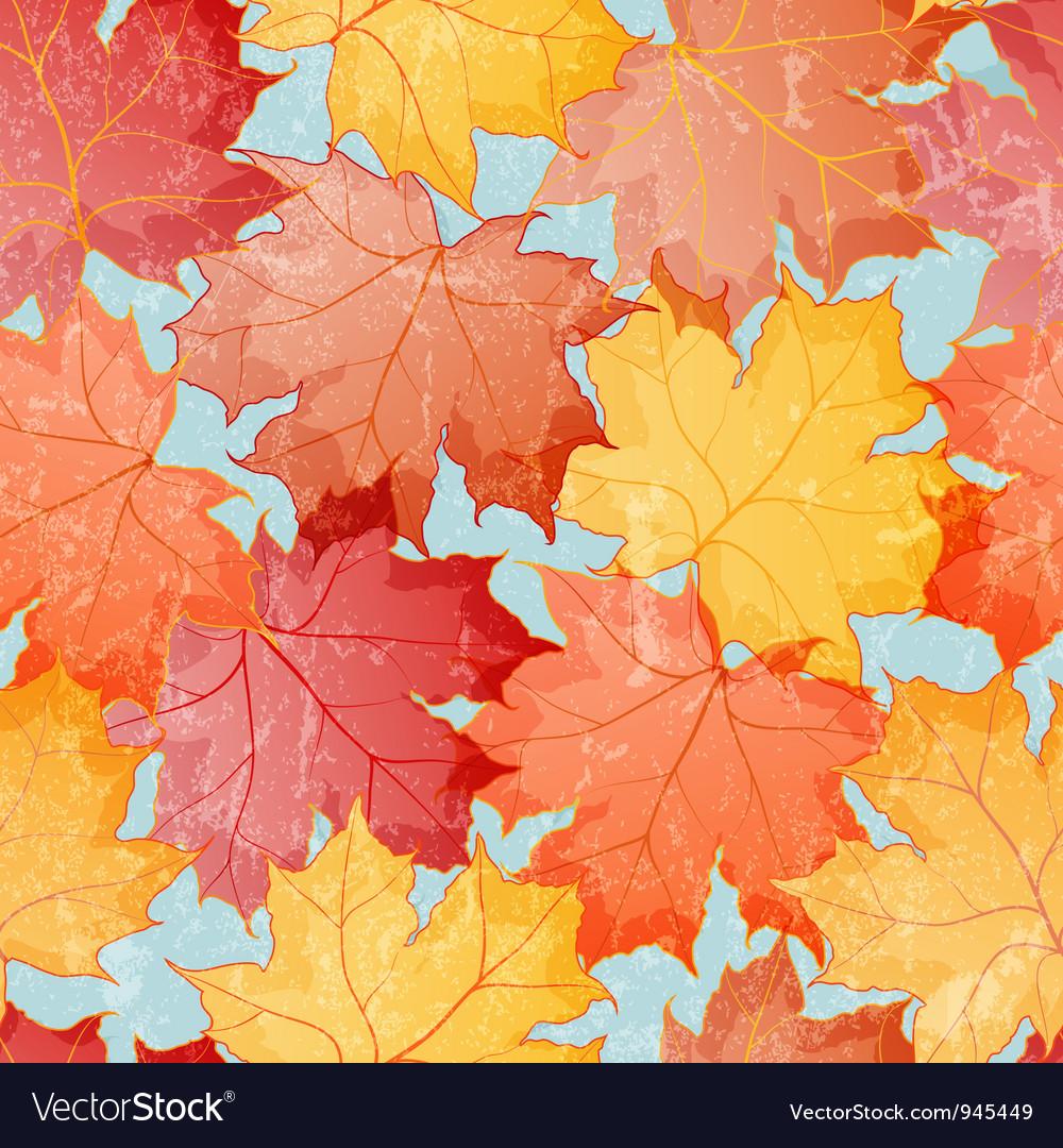 Maple leaves seamless wallpaper