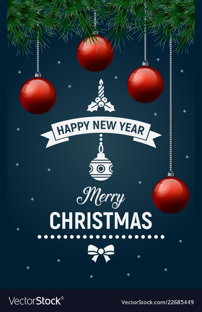 poster happy new year Royalty Free Vector