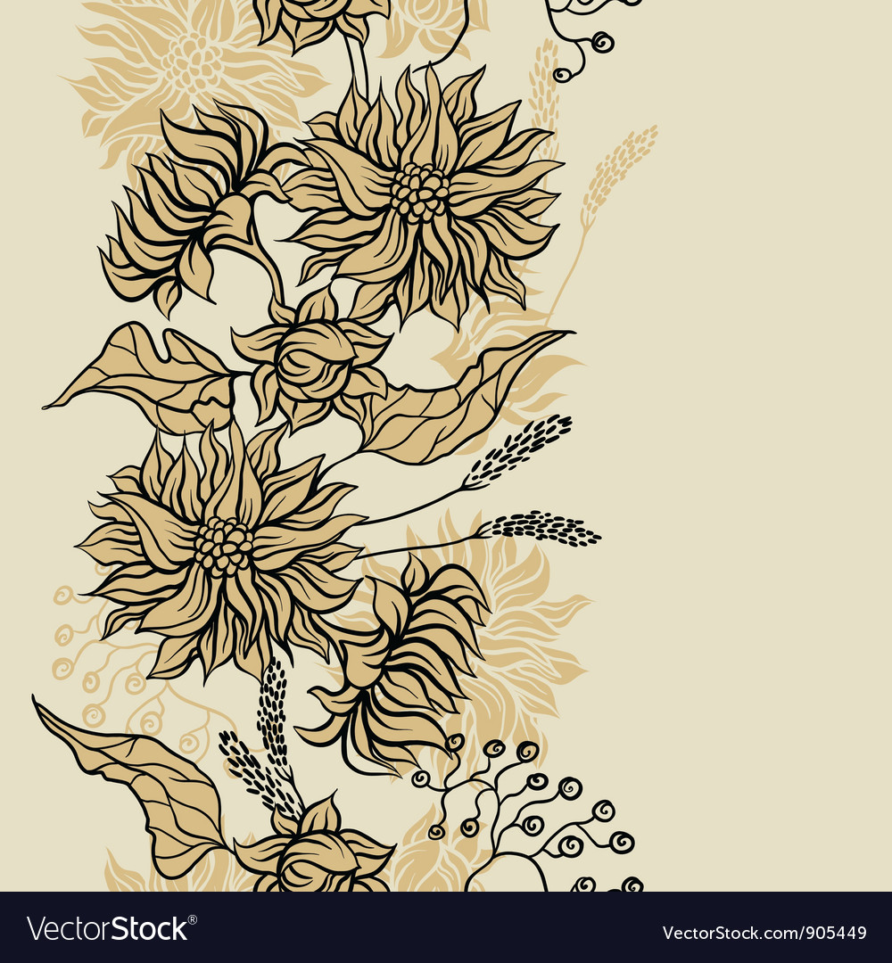 Seamless pattern with flowers background for you