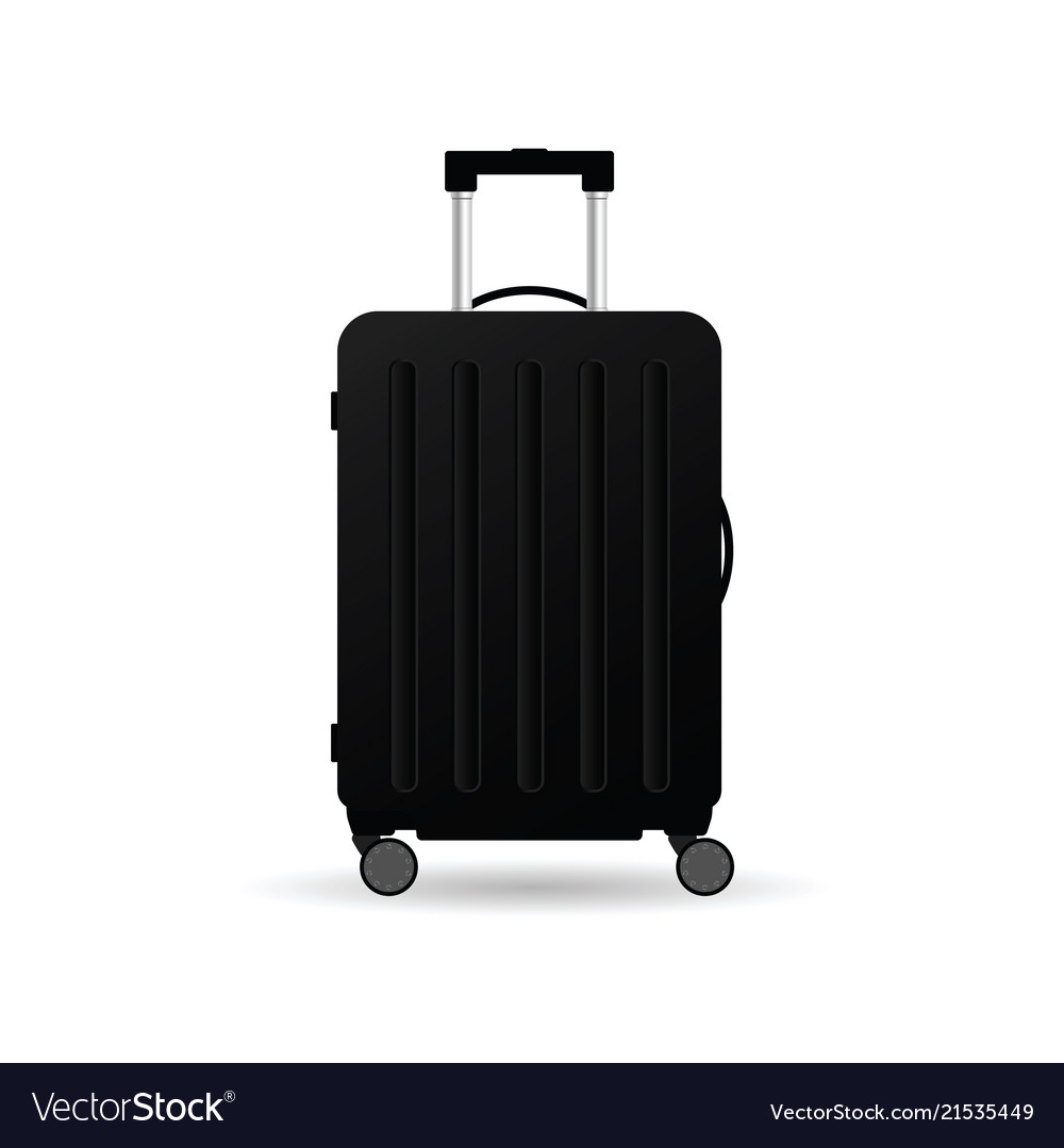 1e4358ec126c Travel suitcase in black color with wheels