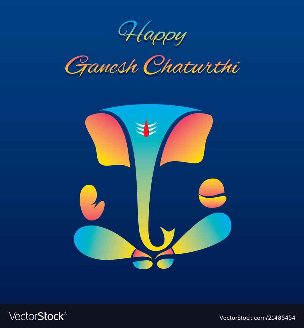 creative poster of celebrate ganesh chaturthi vector image