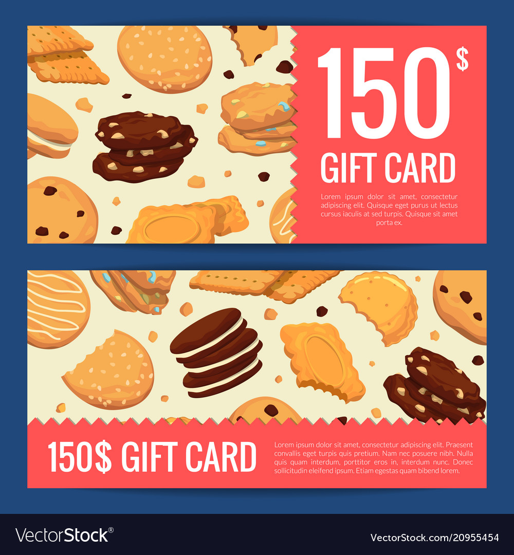 Discount or gift card voucher templates