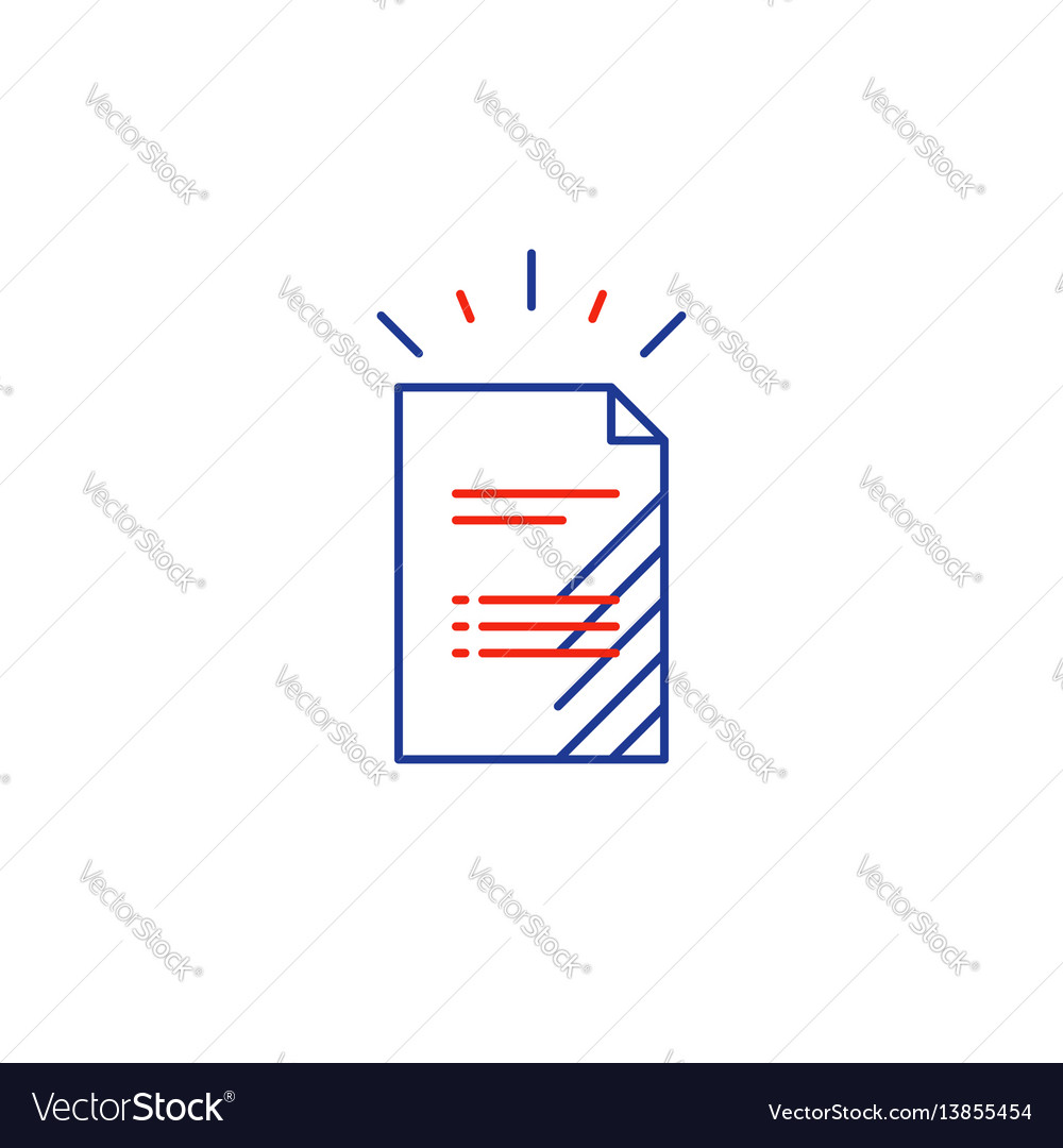 Document file list application form icon vector image