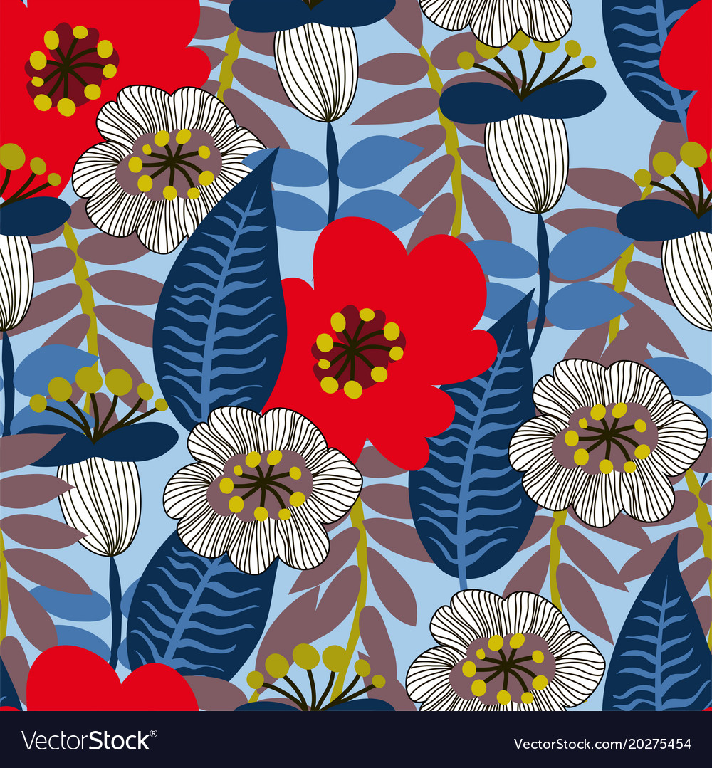 Floral seamless pattern for textile