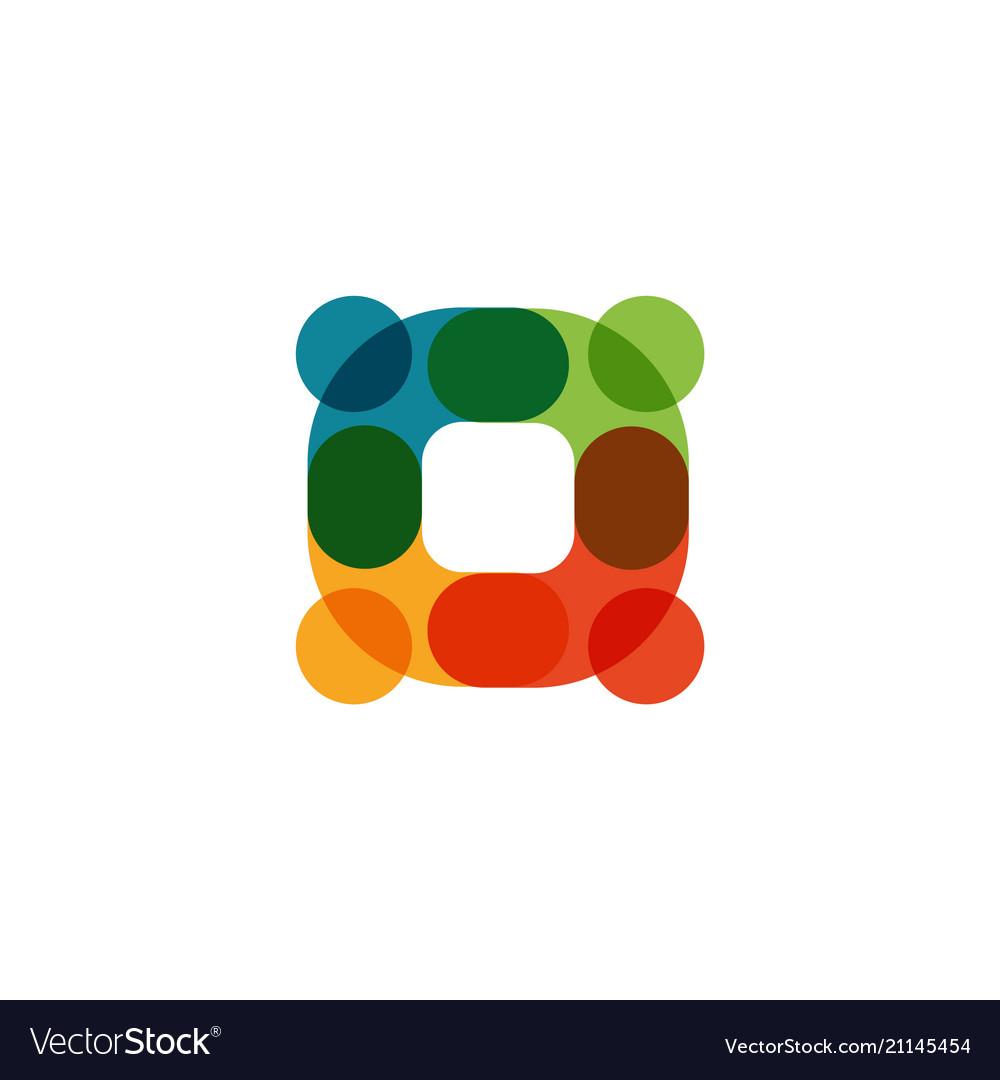 Human logo mutual aid icon people together