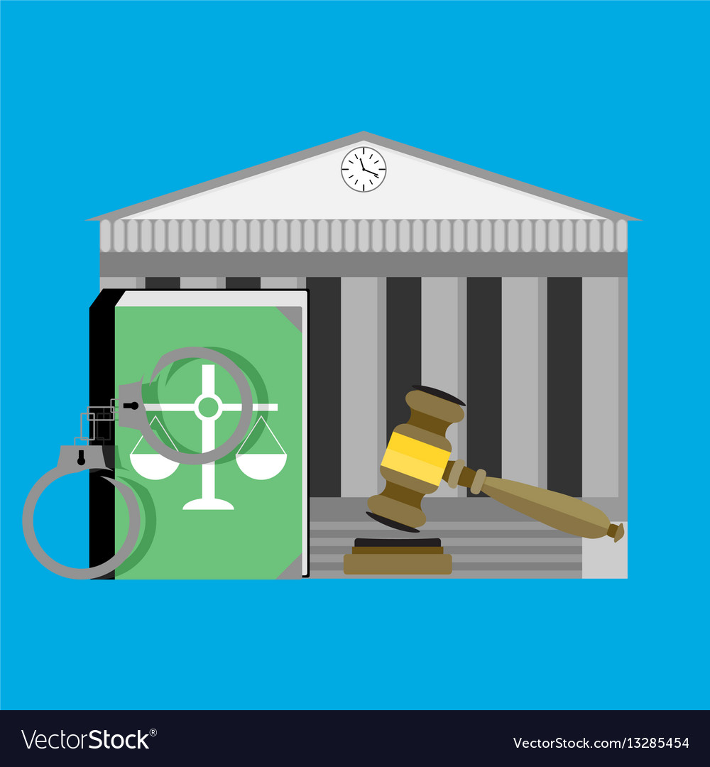 Justice concept courthouse vector image