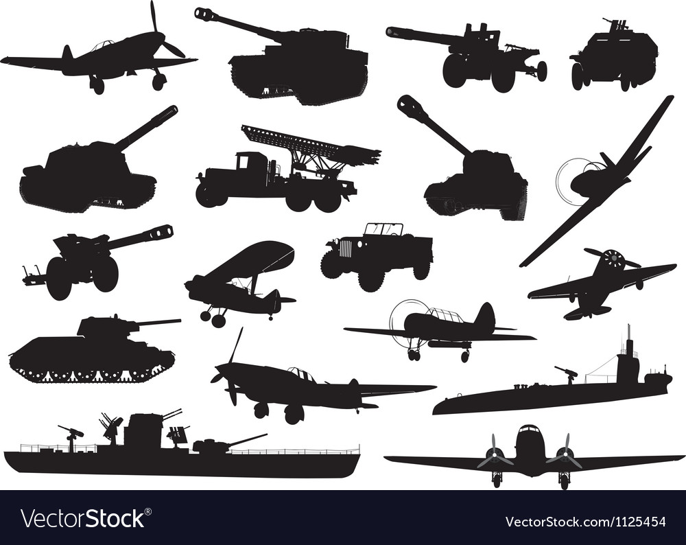 Military ww2 vector image
