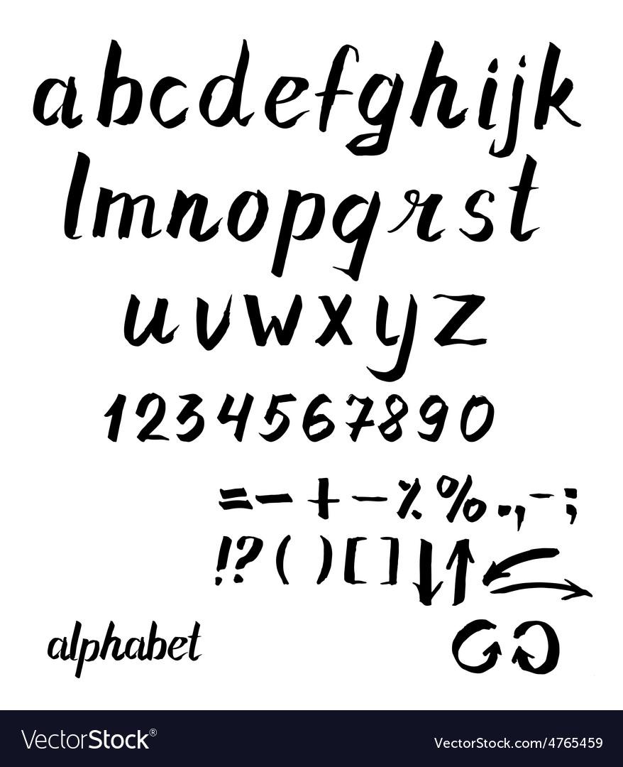 Alphabet Hand drawn ink vector image