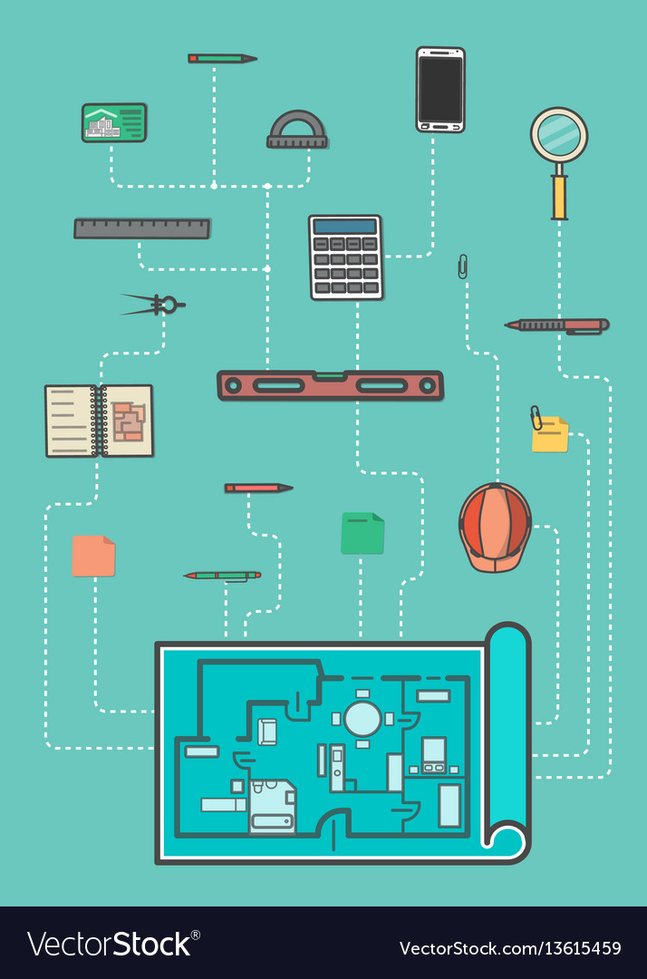 Architecture infographic in flat design