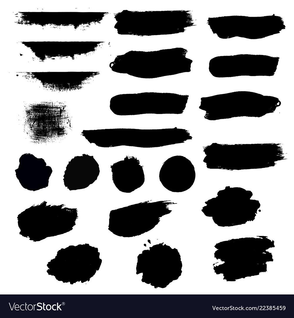 Black blobs set