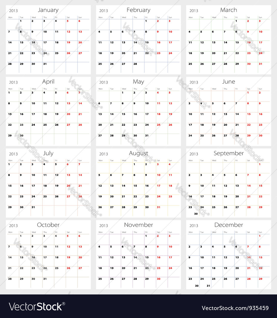 Calendar 2013 vector 935459 - by barbulat
