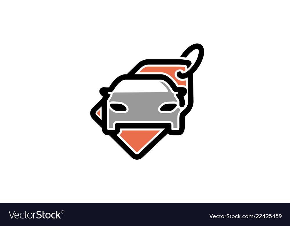 Creative auto tag label logo