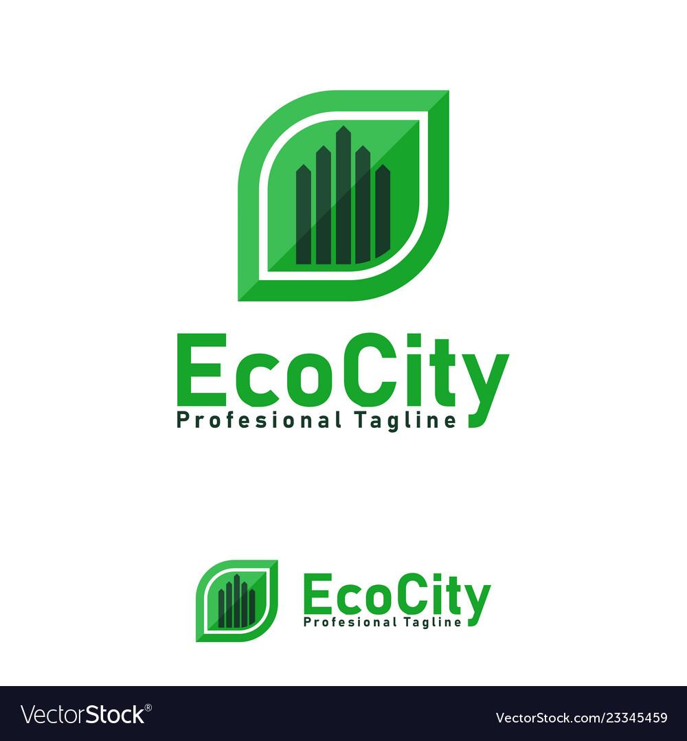 Eco city design template logo and symbols