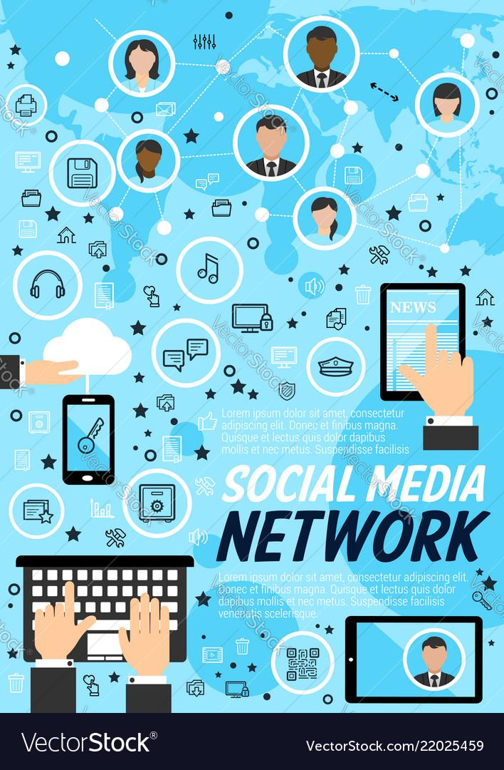 Network social media technology concept