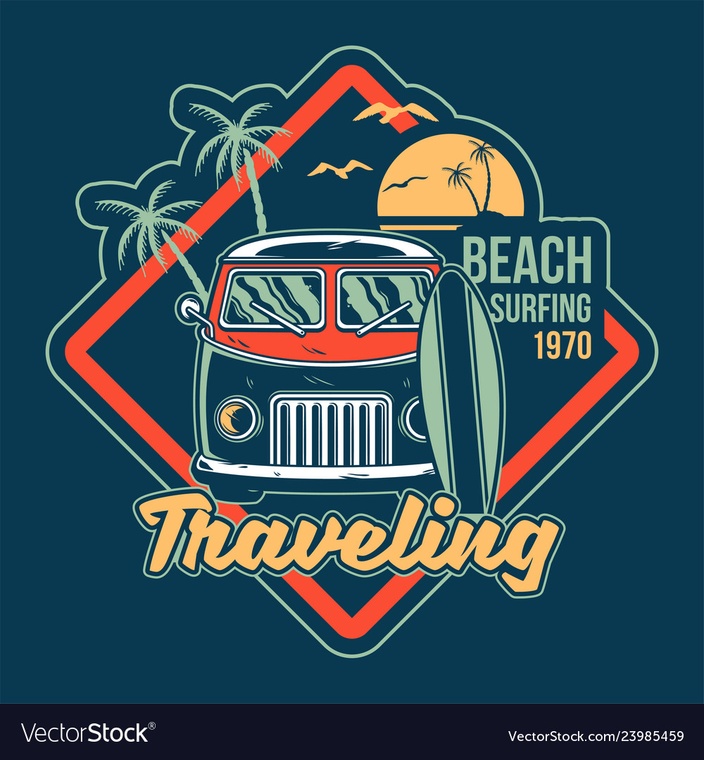 Traveling surfing print