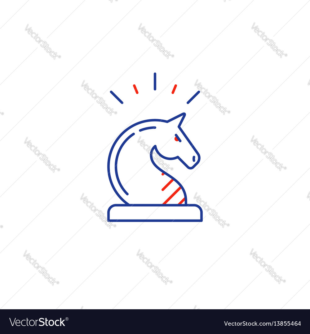 Development strategy thinking improvement chess vector image