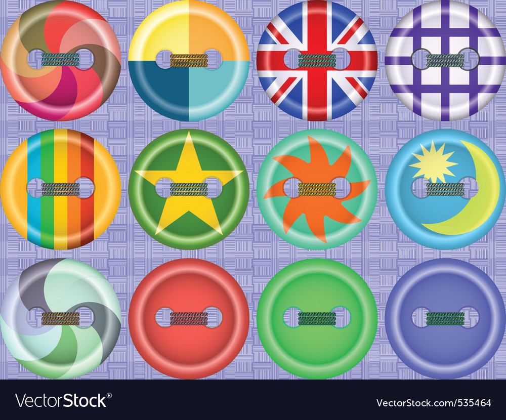 Fasteners vector image