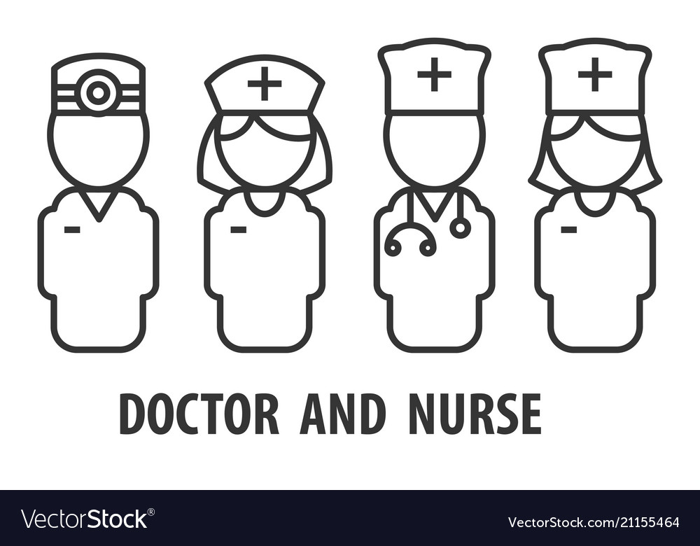 Male doctor and nurse