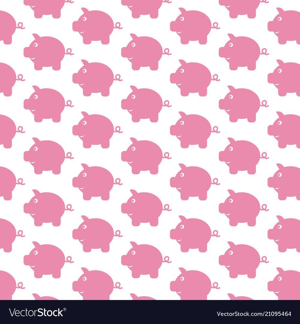 Piggy bank pattern background