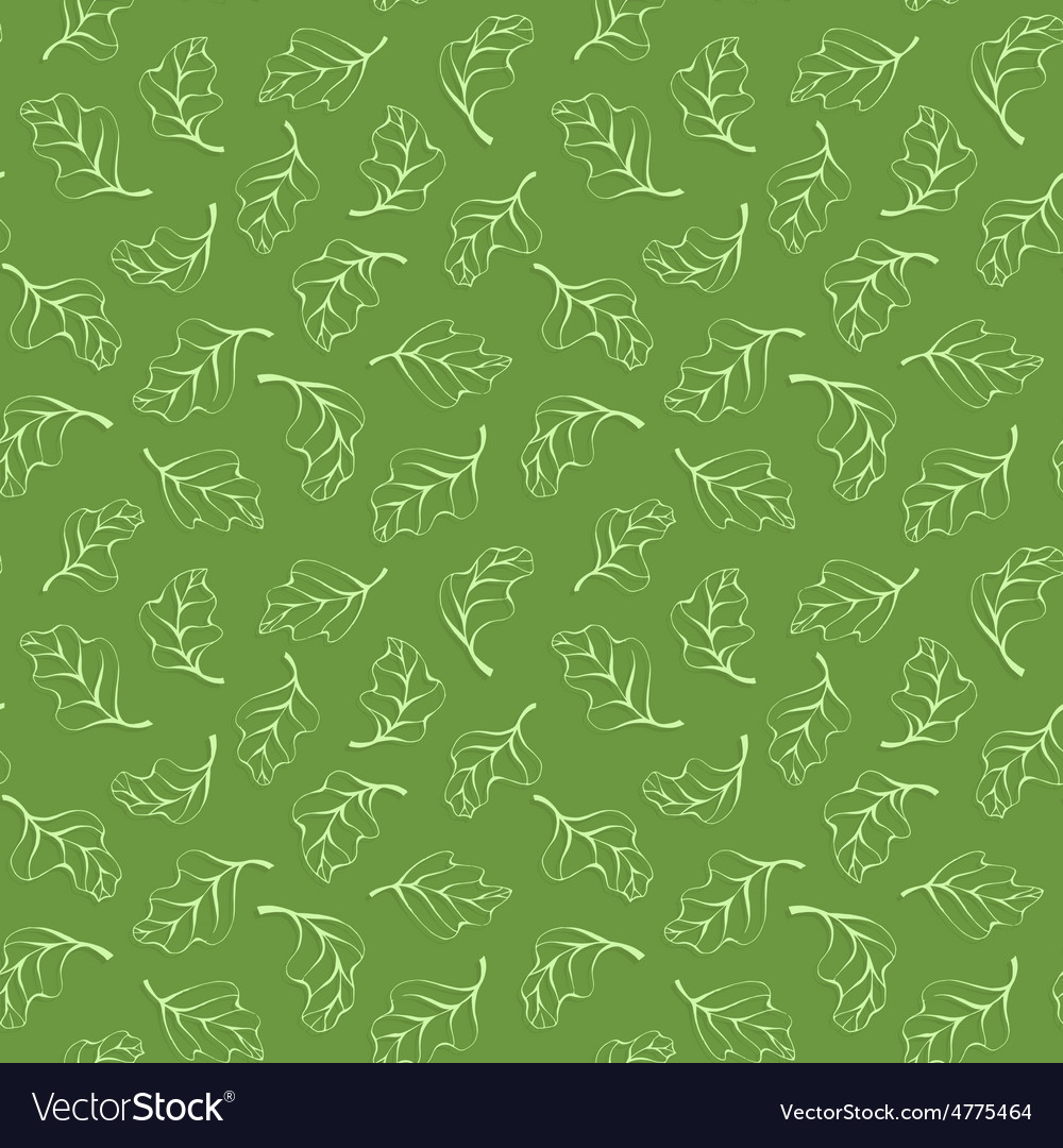 Seamless pattern with light green leaves