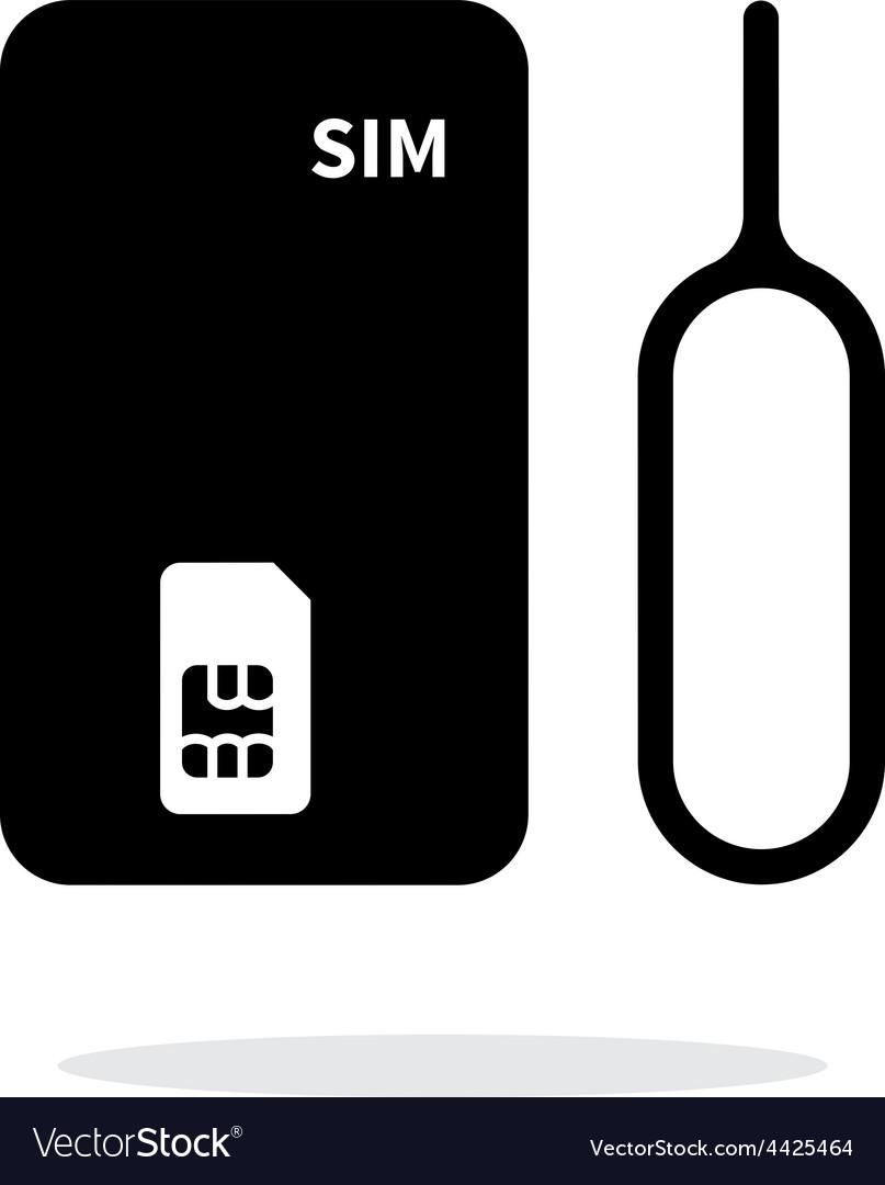 Standard SIM simple icon on white background