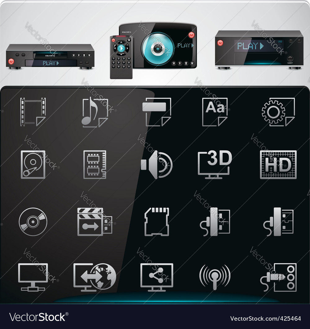 Video players features icons