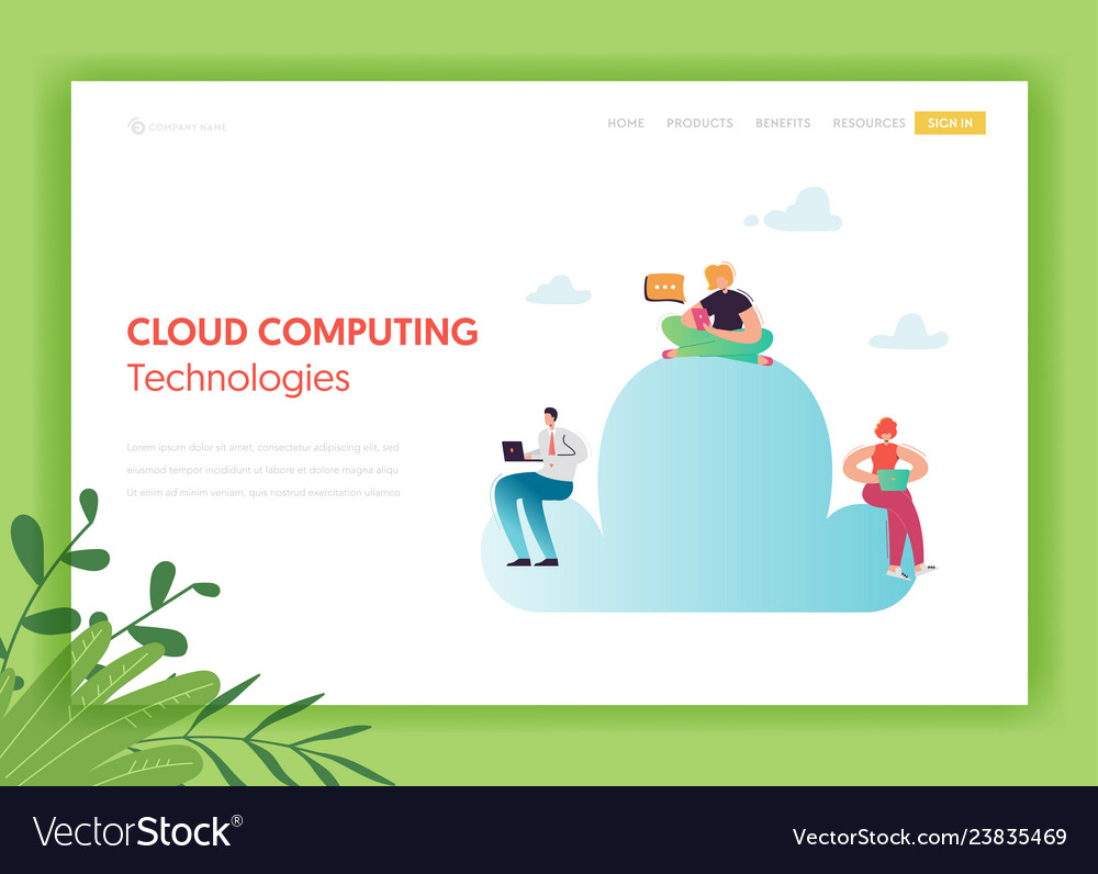 Cloud data storage technologies landing page