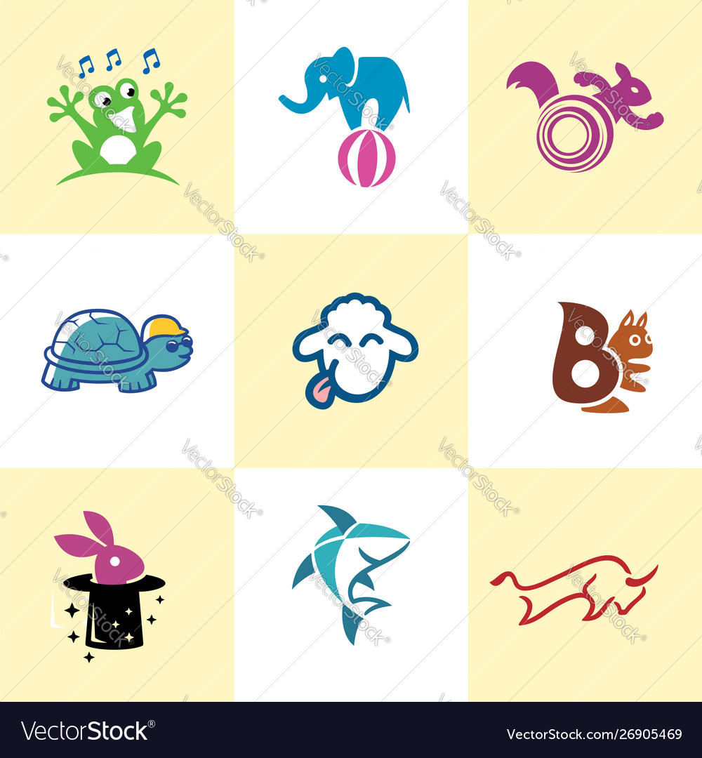 Fun animal logo image template