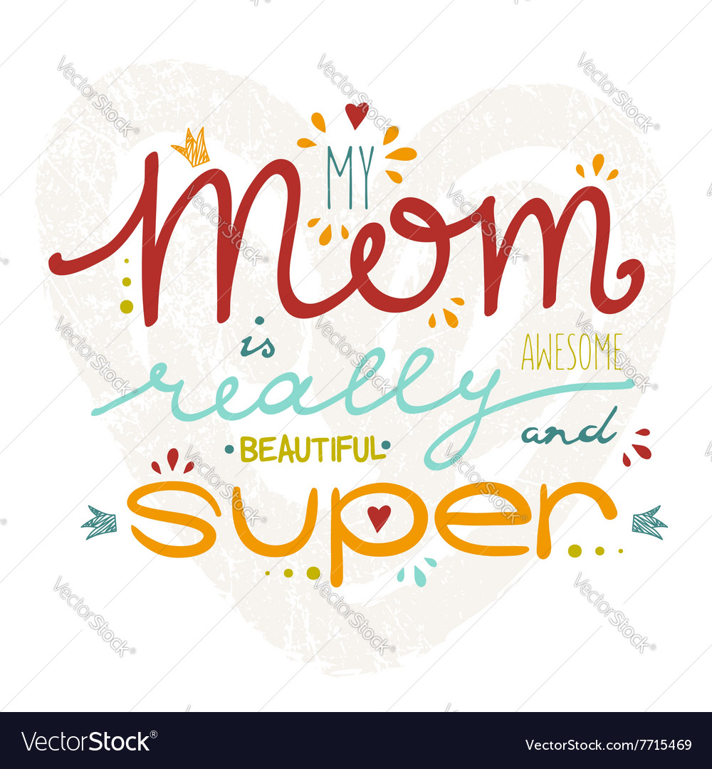 Hand drawn card for Mothers Day vector image