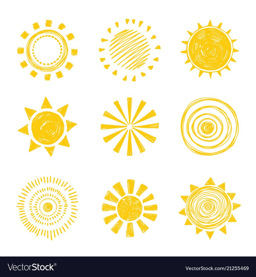 Icon doodle sun