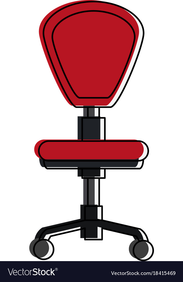 Office Chair With Wheels Vector Image