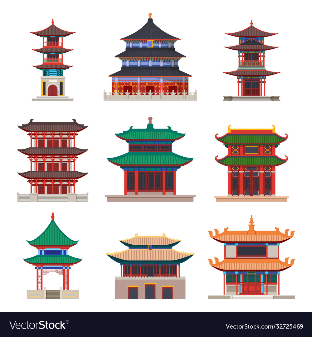Pagoda building chinese or japanese construction