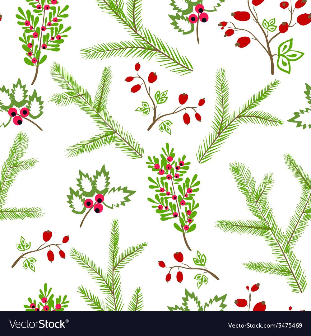 Seamless pattern winter christmas hand drawn