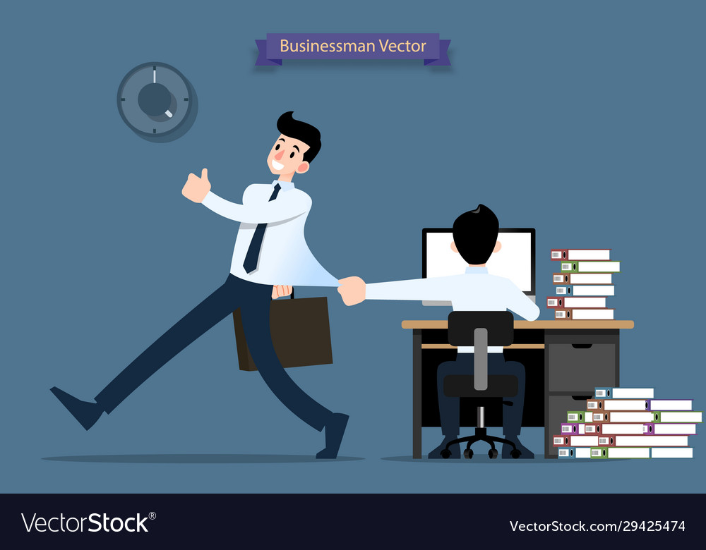 businessmen is going back home after work walk vector image vectorstock