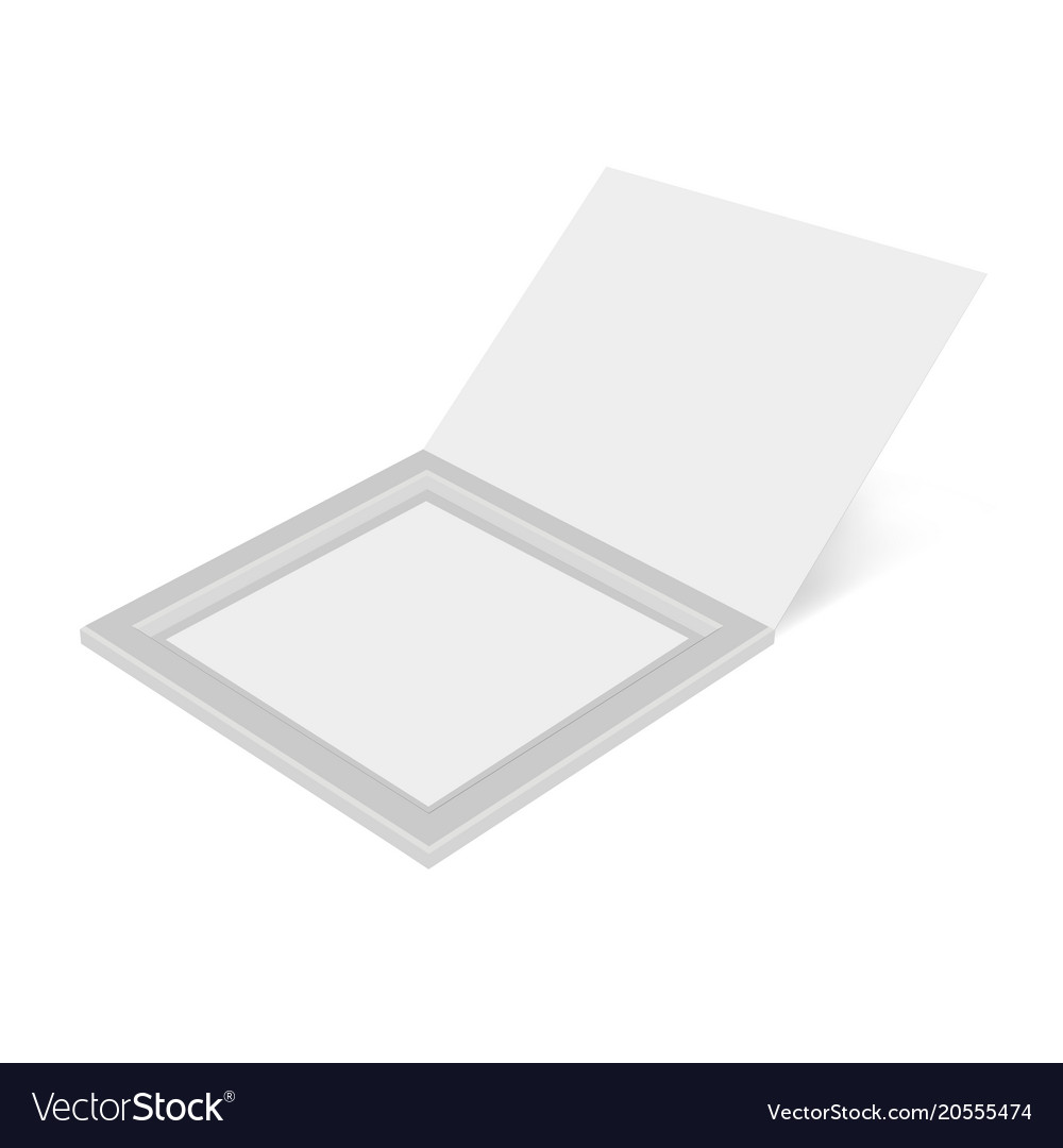 Cardboard box open mock up template