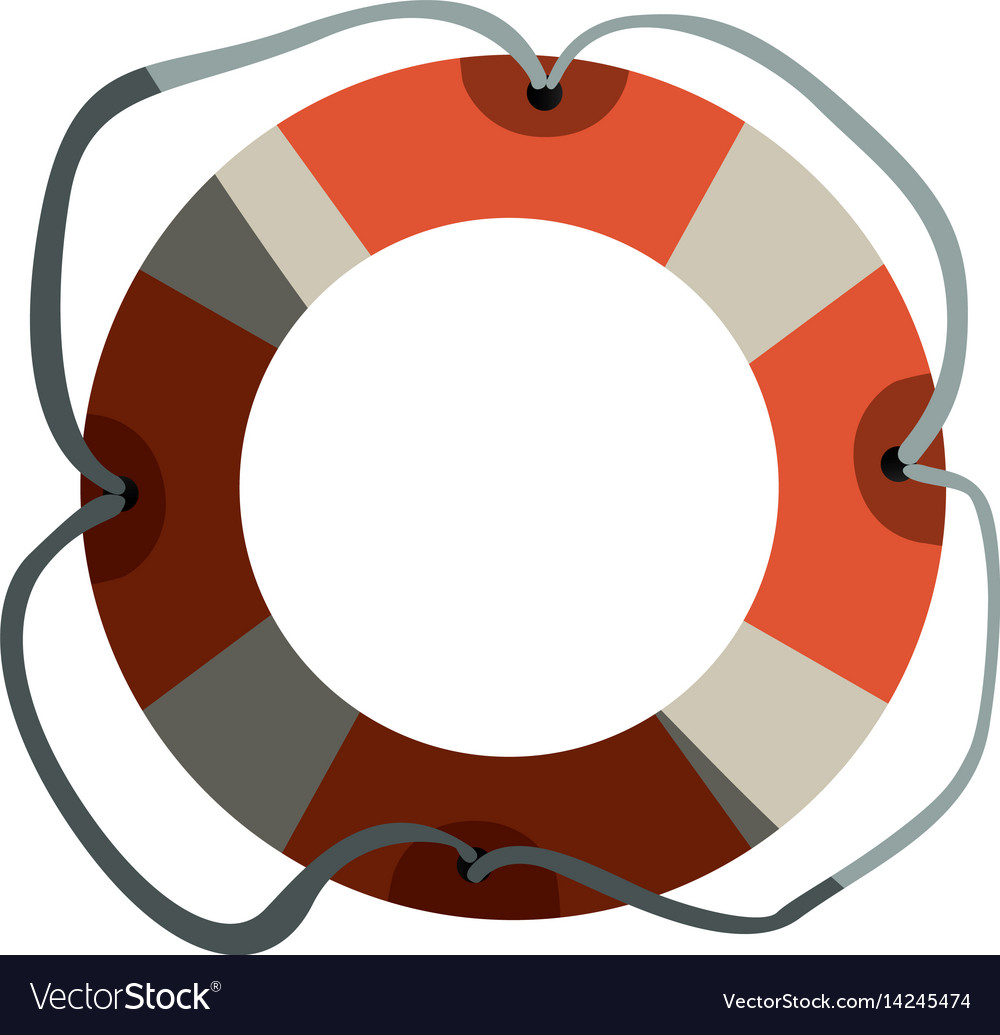 Colorful flotation hoop with tether and half