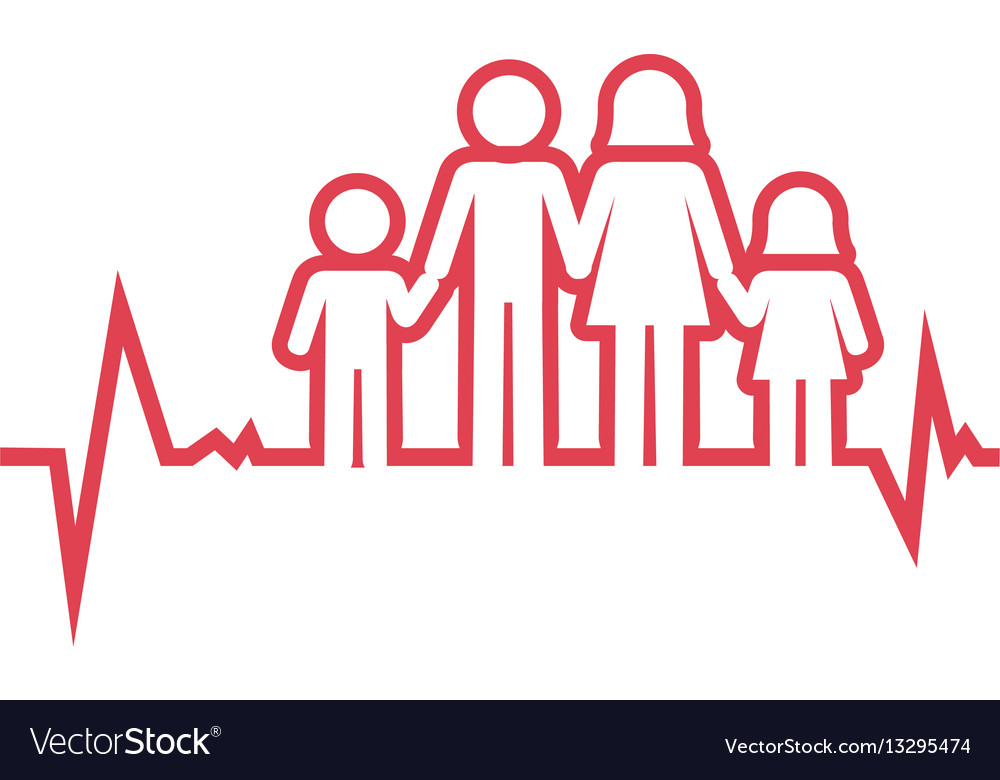 family health care icon royalty free vector image
