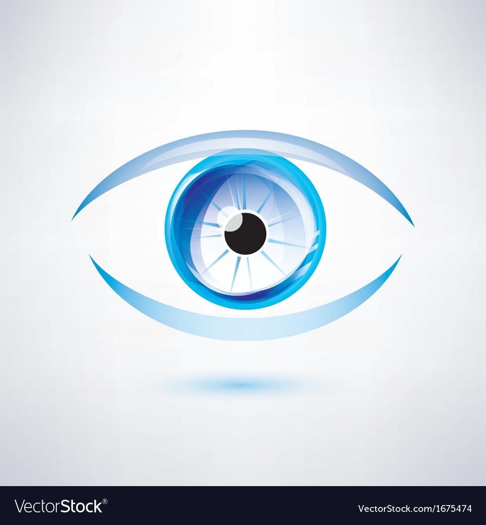 Human blue eye abstract shape