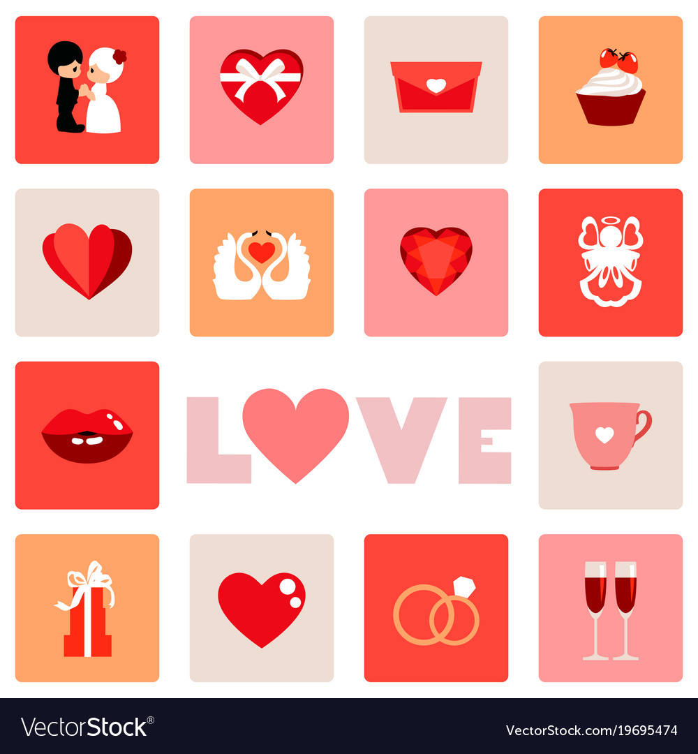 Icon Of Love Symbol For Valentine Day Royalty Free Vector