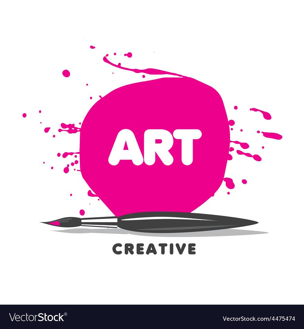 Logo brush paint and spray
