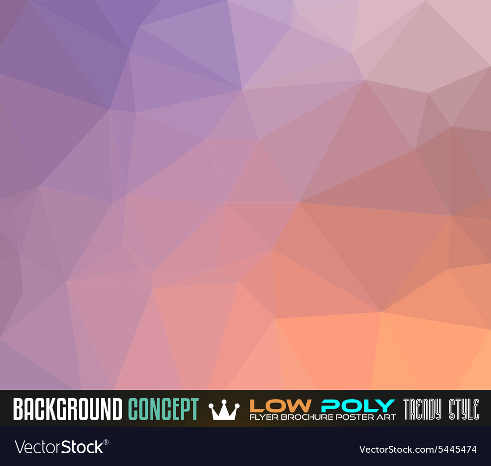 Low Poly Art background for your polygonal flyer