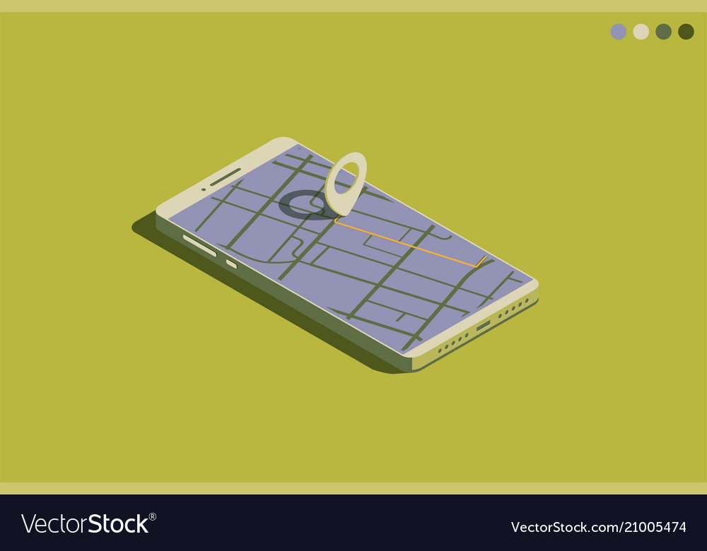 Mobile isometric phone with gps