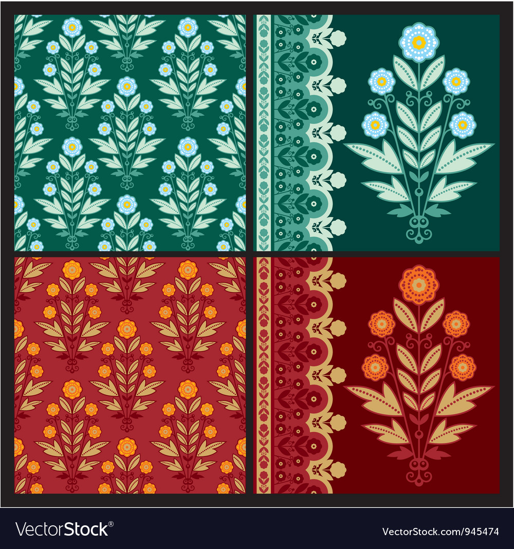 Set floral design elements