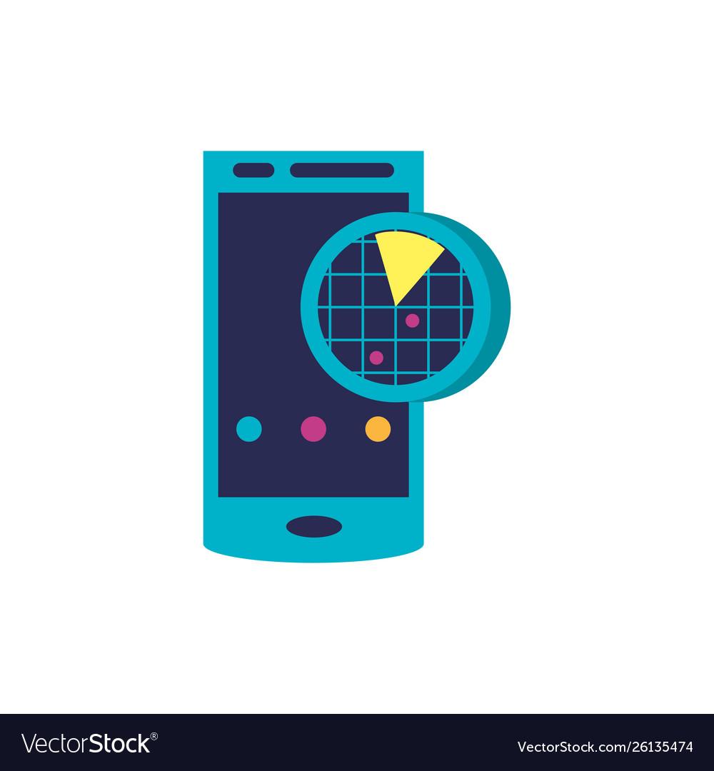 Smartphone device with radar location