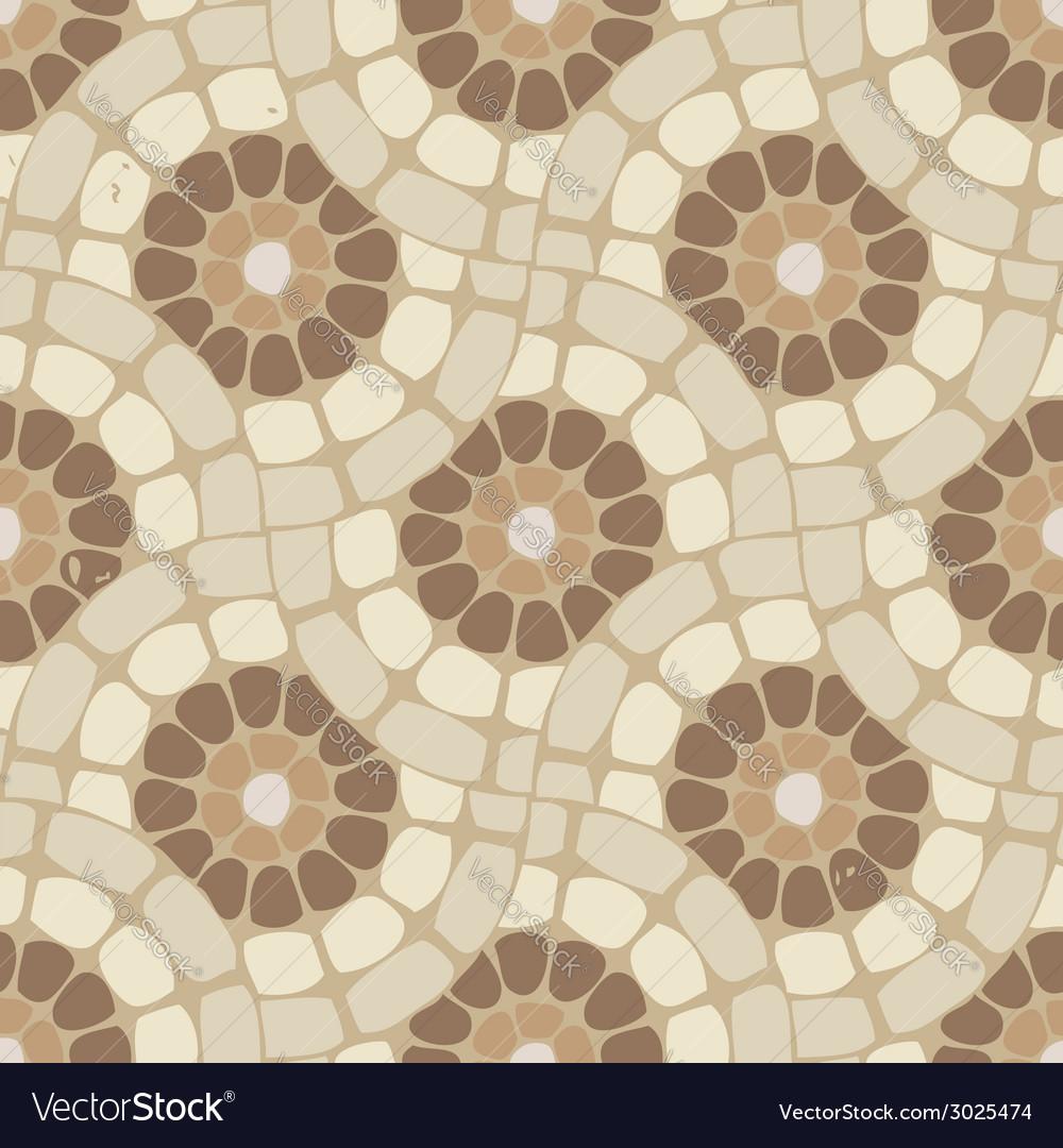 Tile mosaic floor