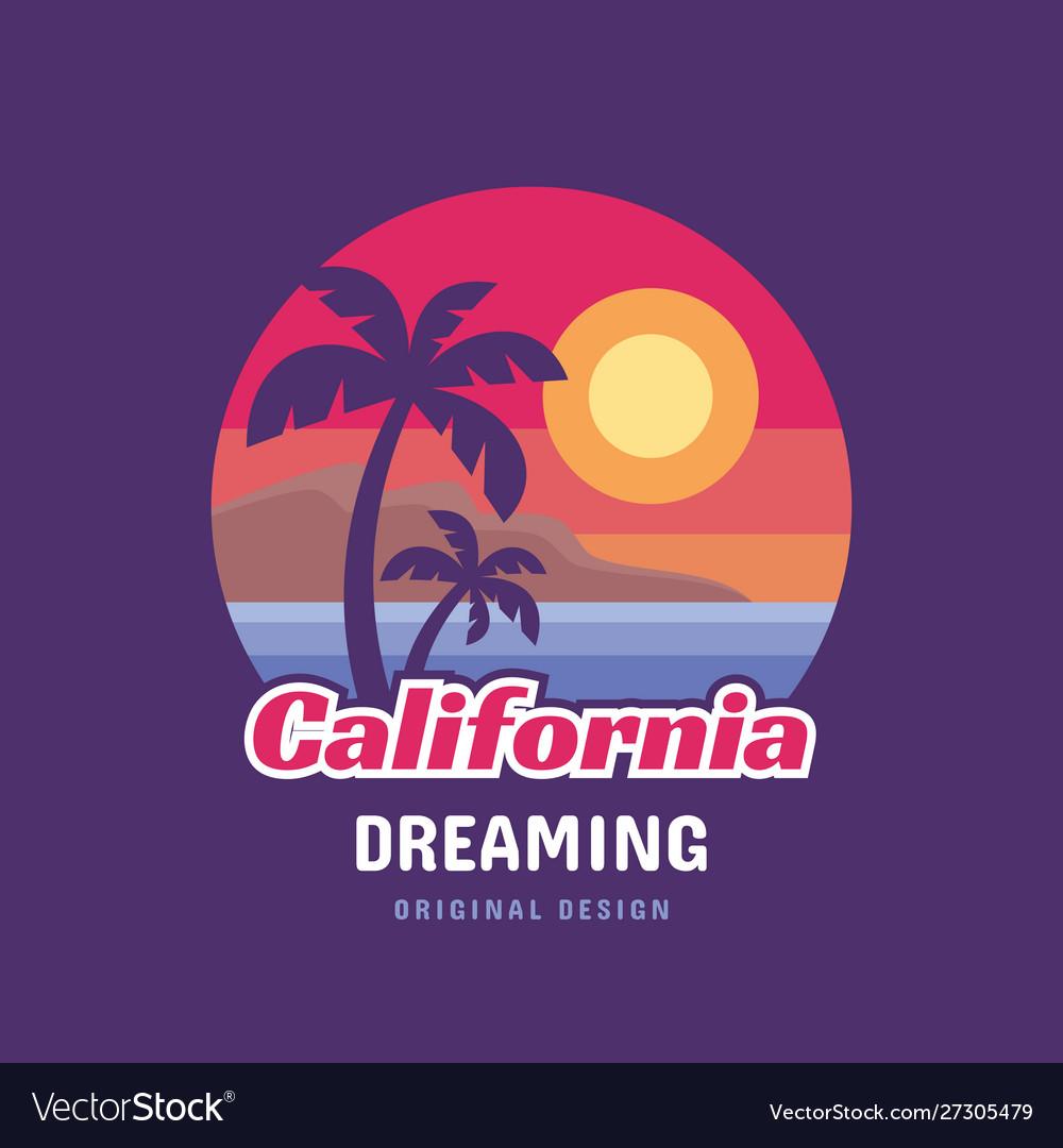 California dreaming - concept logo badge