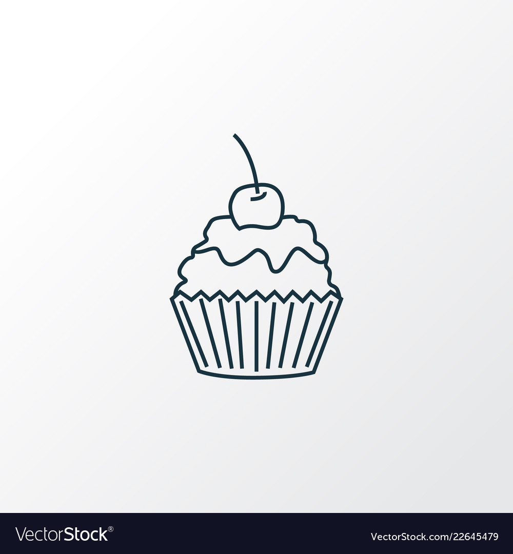 Cupcake icon line symbol premium quality isolated