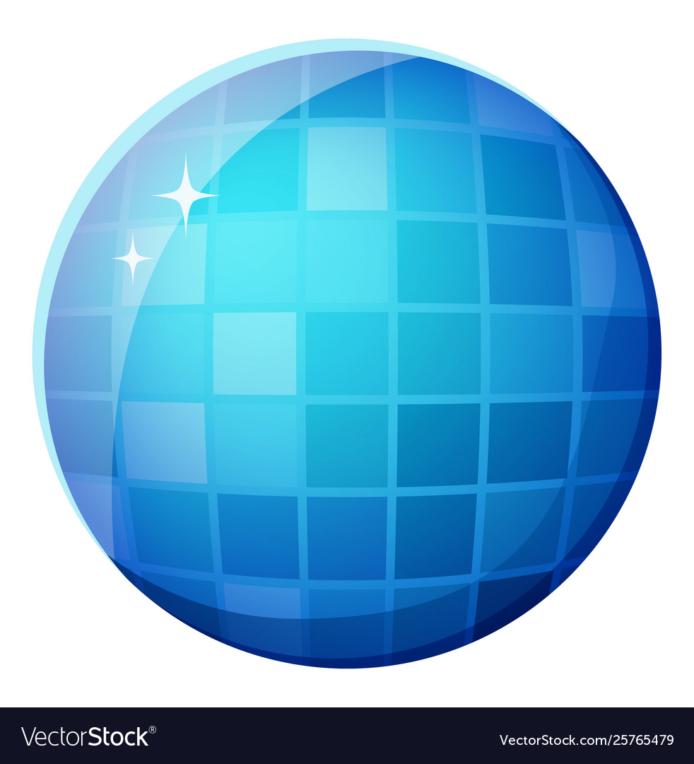 Discotheque mirror ball shiny round shape